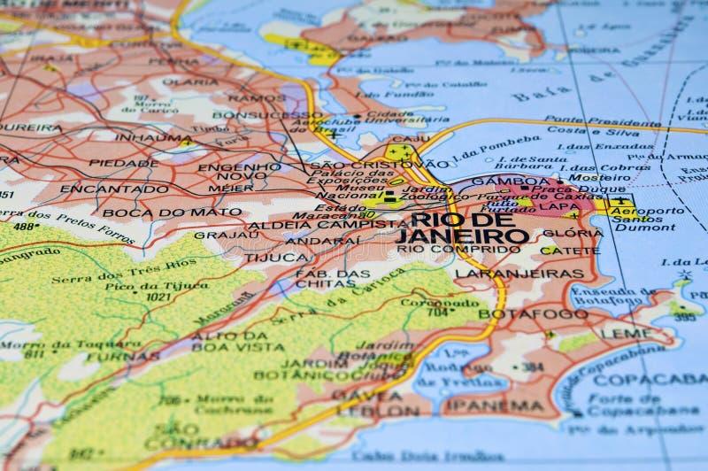 Rio De Janeiro Map Stock Image Image Of South Carnaval - Rio de janeiro map