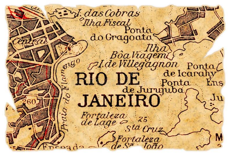 Rio De Janeiro Old Map Stock Photos