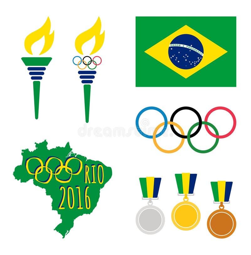 Rio De Janeiro Olympics vektor illustrationer