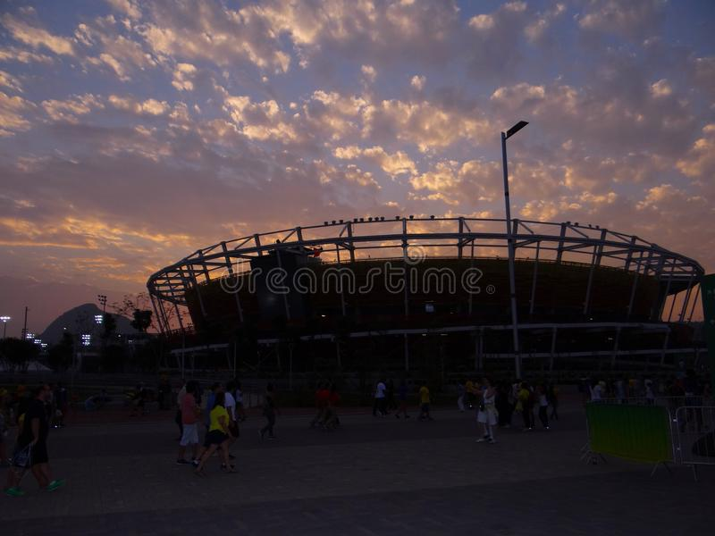 Rio de Janeiro 2016 - olympisk tennismitt arkivfoto