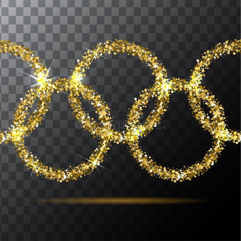 Rio de Janeiro 2016 olympiska spel i Brasilien Vektorillustration med cirklar vektor illustrationer