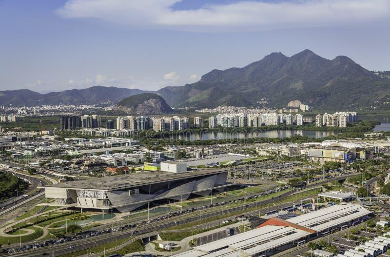 Rio de janeiro, opinião aérea de Barra da Tijuca foto de stock