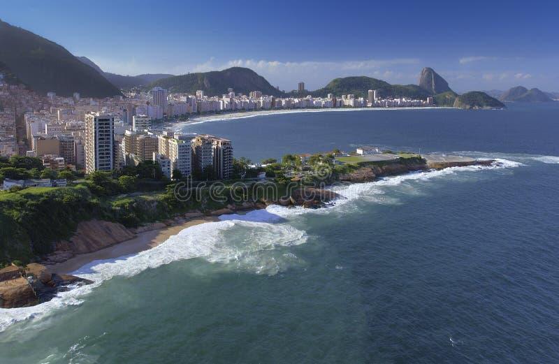 Rio de Janeiro - plage de Copacabana - le Brésil images stock