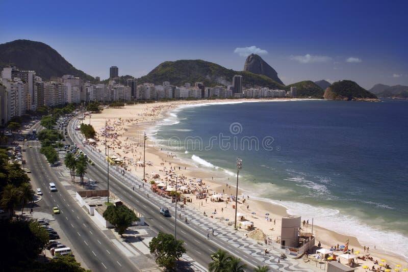 Rio de Janeiro - playa de Copacabana - el Brasil imagen de archivo libre de regalías