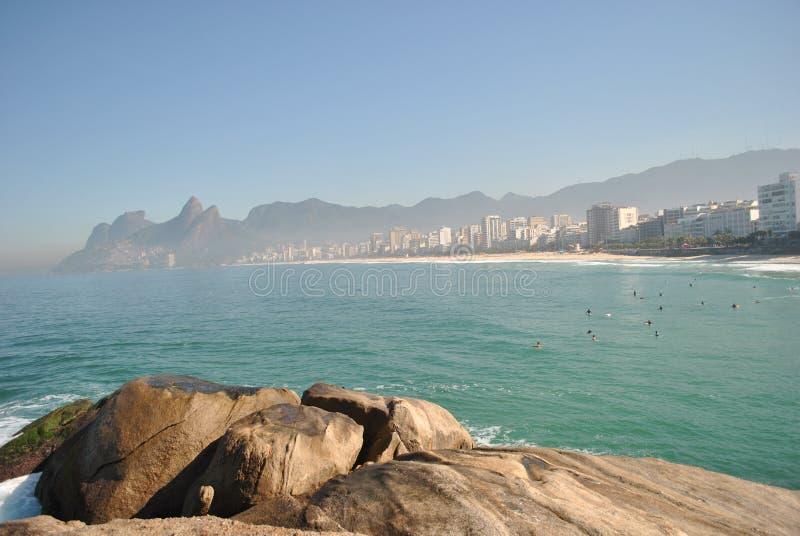 Rio de Janeiro - playa de Ipanema (3) foto de archivo libre de regalías