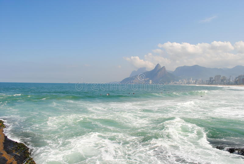 Rio de Janeiro - playa de Ipanema (5) foto de archivo