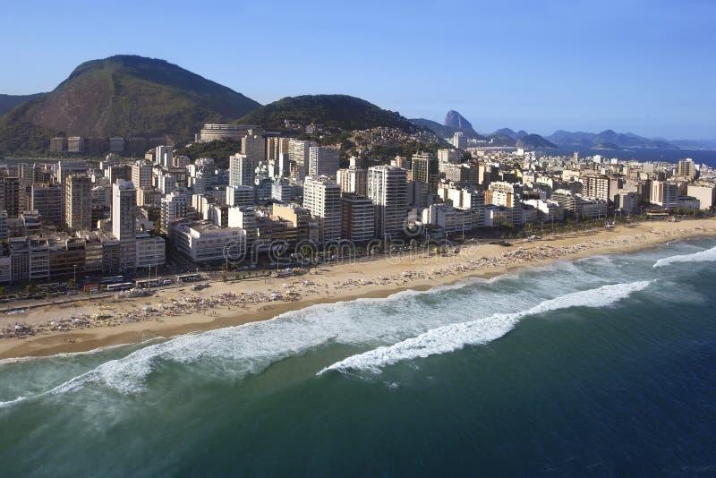 Rio de Janeiro - playa de Ipanema - el Brasil fotografía de archivo