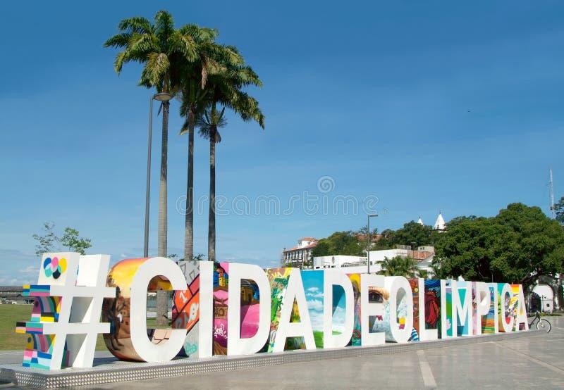 Rio De Janeiro przed olimpiadami obraz stock