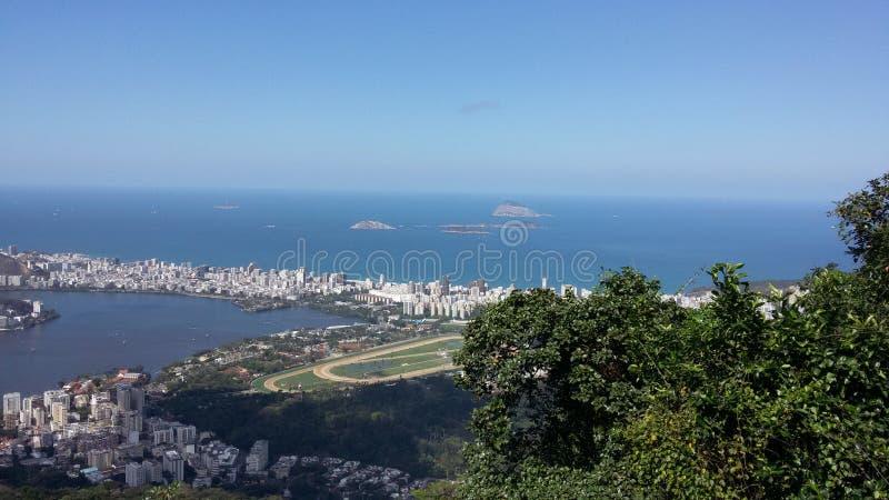 Rio de Janeiro, RJ, Brasilien - 23. August 2016 - Vogelperspektive lizenzfreie stockbilder