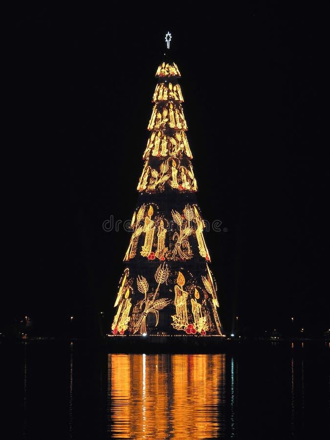 Rio de Janeiro? s Kerstmisboom royalty-vrije stock afbeelding