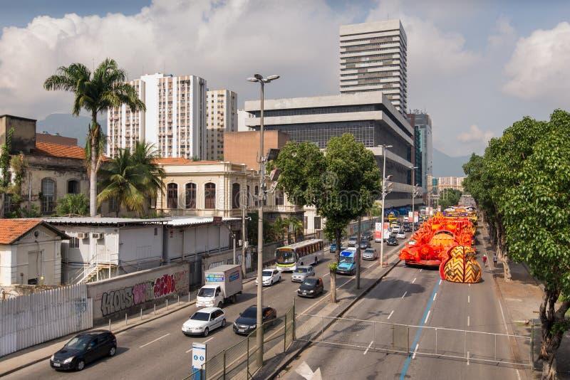 Rio De Janeiro samby szkoły pławik obrazy stock