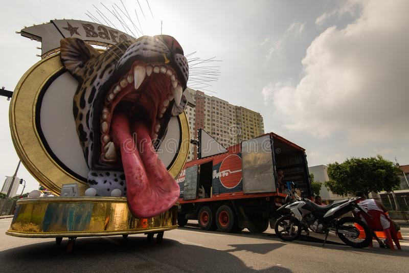 Rio De Janeiro samby szkoły pławik zdjęcia stock