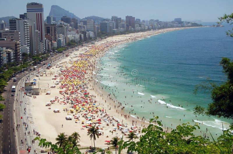 Beach. A view of Ipanema and Leblon beach, one of the most beautiful beach of Rio de Janeiro
