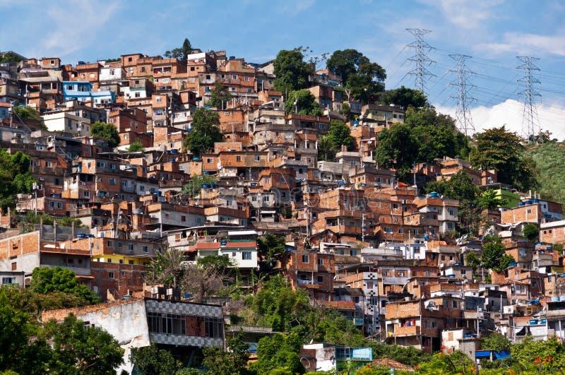 Rio de Janeiro Slums op de Heuvel stock fotografie