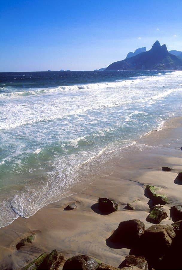 Rio de Janeiro, spiaggia di Ipanema fotografia stock libera da diritti