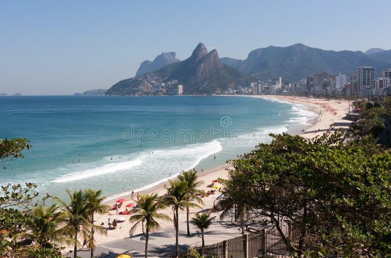 Rio de Janeiro Spiaggia di Ipanema fotografia stock libera da diritti
