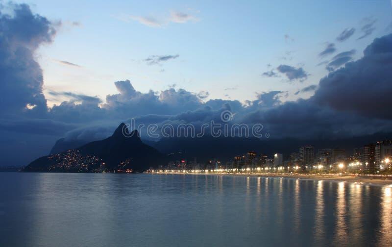 Rio de Janeiro, spiaggia di Ipanema immagine stock libera da diritti
