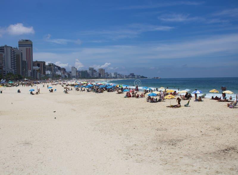 Rio de Janeiro strand arkivfoton