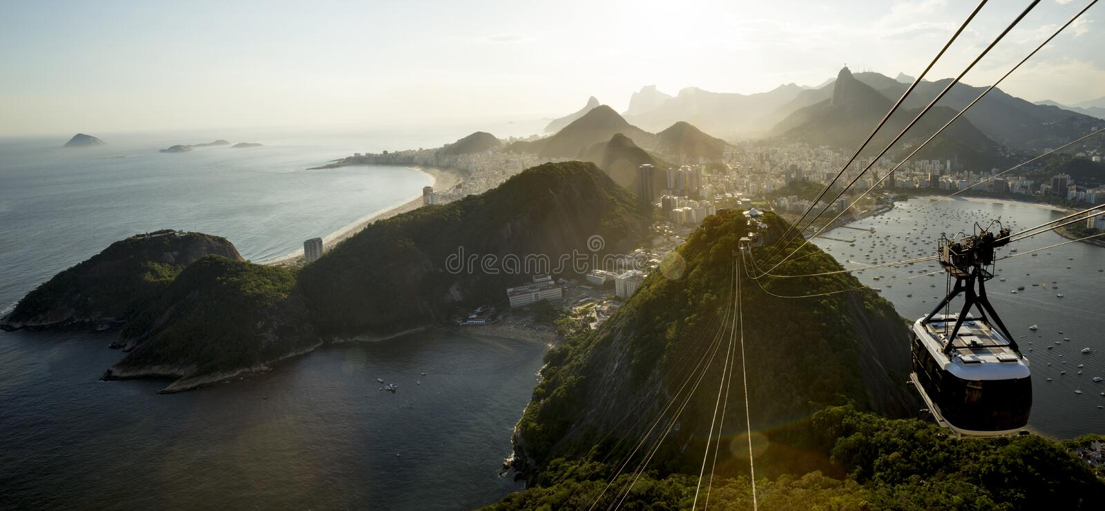 Rio de Janeiro with Sugarloaf mountain, Brazil stock image