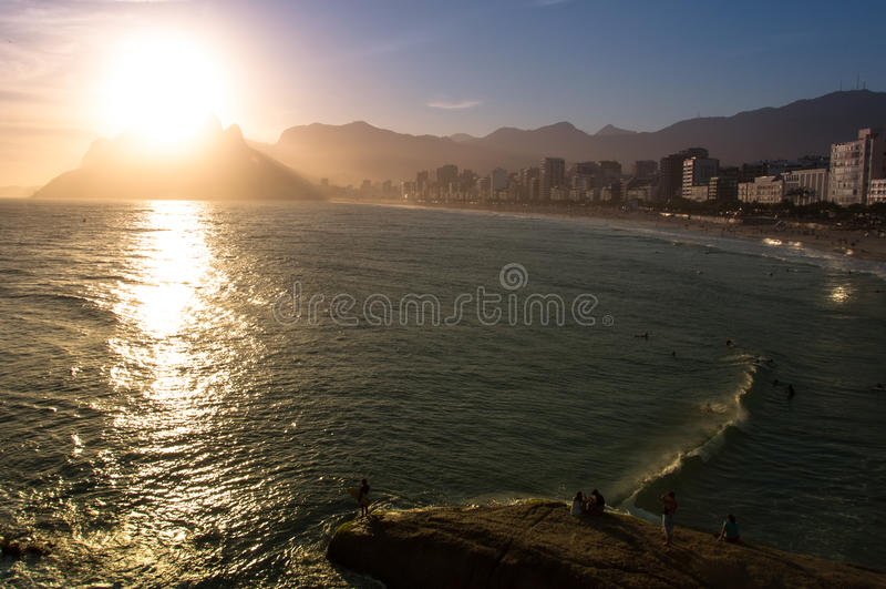 Rio de Janeiro Sunset stock photos