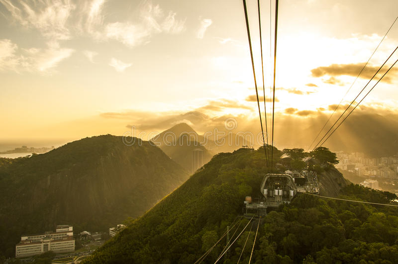 Rio De Janeiro Sunset From The Sugarloaf Mountain Stock Photo