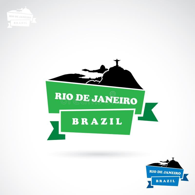Rio De Janeiro sztandar ilustracji