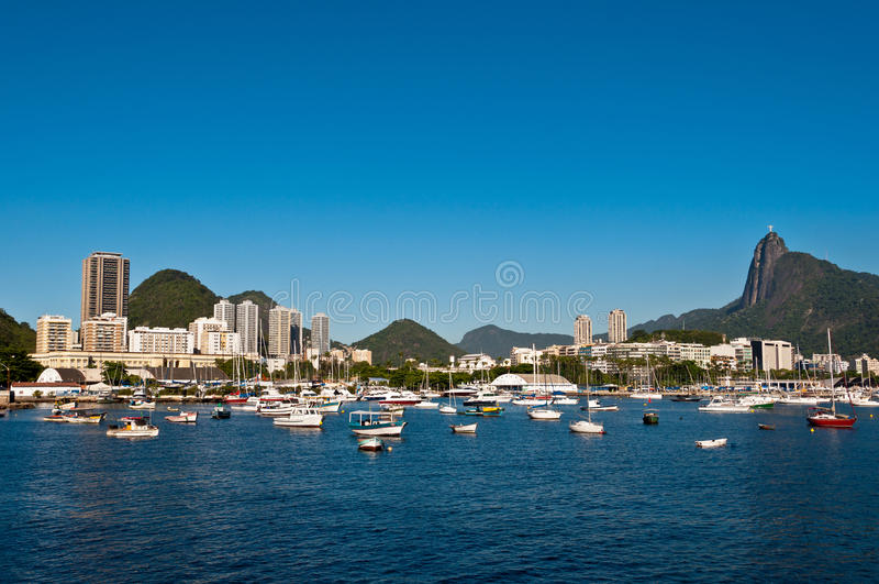 Rio De Janeiro z Corcovado Chrystus i górą odkupiciel fotografia royalty free