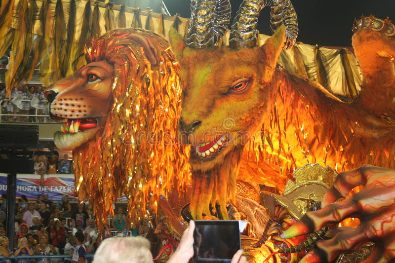 RIO- DE JANEIROkarneval - 20. FEBRUAR: lizenzfreies stockfoto