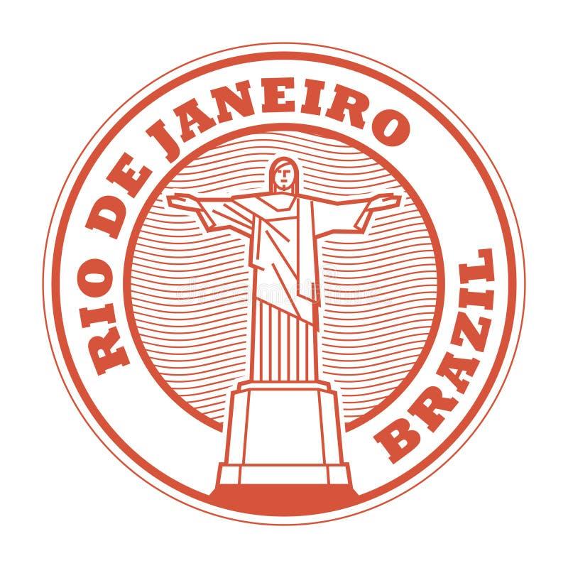 Rio de Jeneiro, Brasilien-Stempel stock abbildung