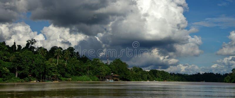 Rio de Kinabatangan fotografia de stock royalty free