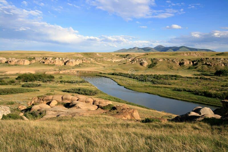 Download Rio De Leite E Montes De Sweetgrass Foto de Stock - Imagem de sandstone, provincial: 12808218