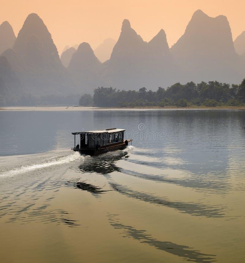 Rio de Li - província de Guangxi - China fotografia de stock