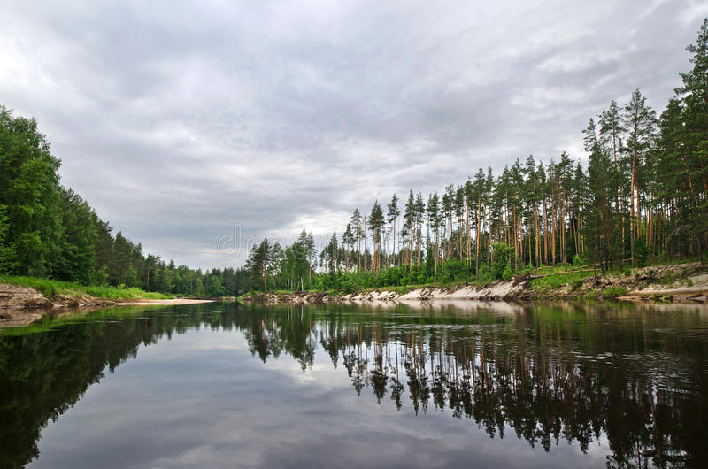 Rio de Lukh (Rússia) fotografia de stock royalty free