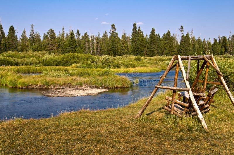 Rio de Madison perto de Yellowstone ocidental, EUA fotos de stock royalty free