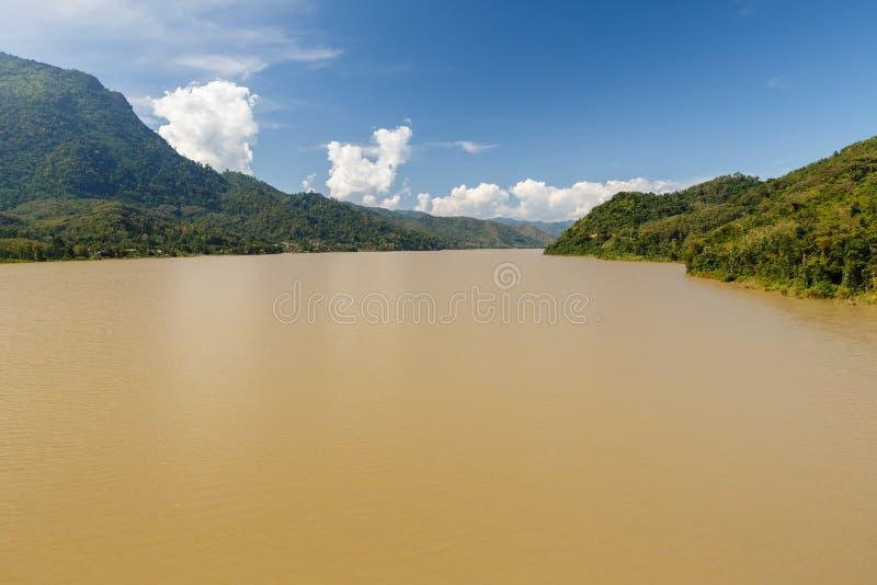 Rio de Mekong, Laos fotografia de stock