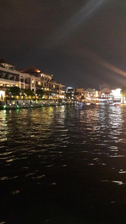 Rio de Melaka fotos de stock