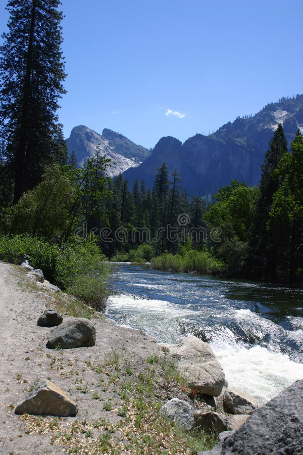 Rio de Merced - Yosemite foto de stock royalty free