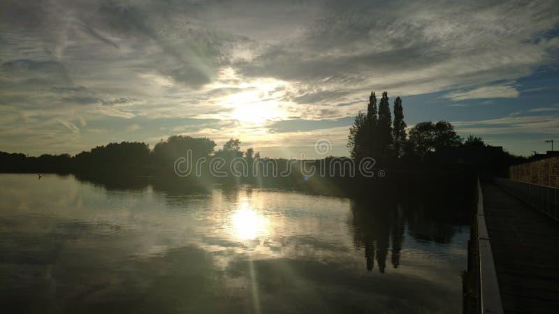 Rio de Mersey, Warrington fotos de stock royalty free