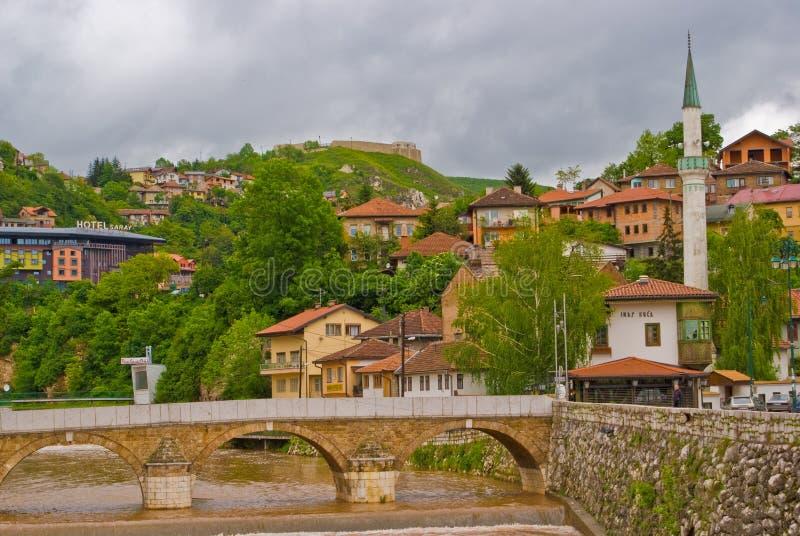 Rio de Miljacka imagens de stock