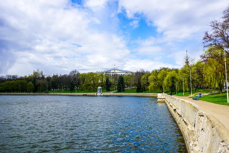 Rio de Minsk Svislach fotografia de stock royalty free