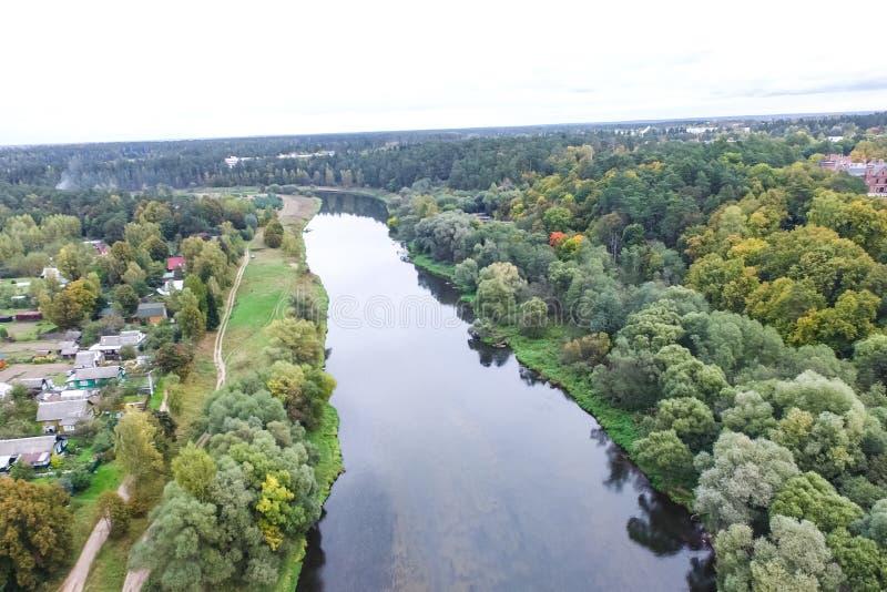 Rio de Moscou, vista de cima de imagem de stock