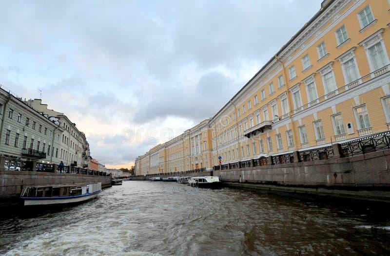 Rio de Moyka, St Petersburg, Rússia fotografia de stock royalty free