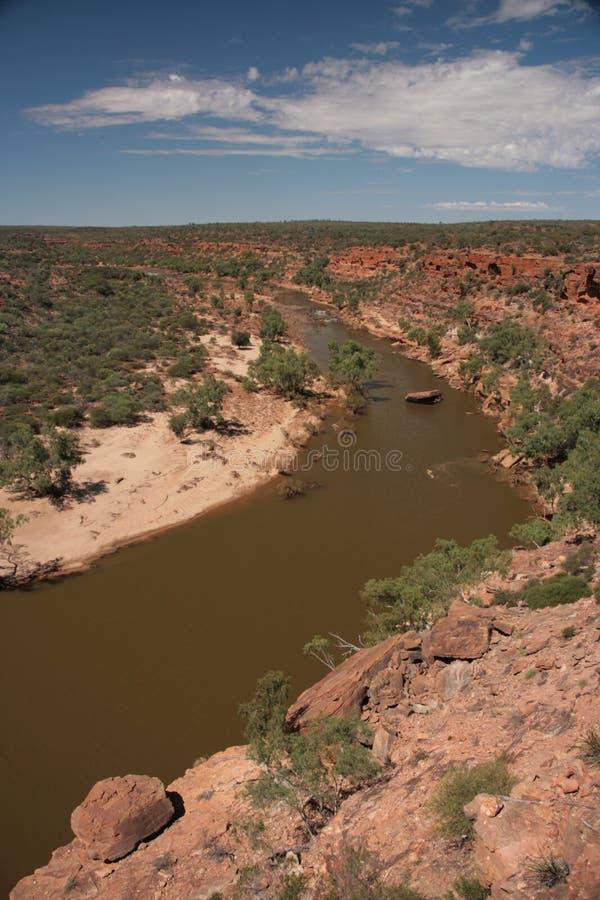 Rio de Murchison - Austrália foto de stock