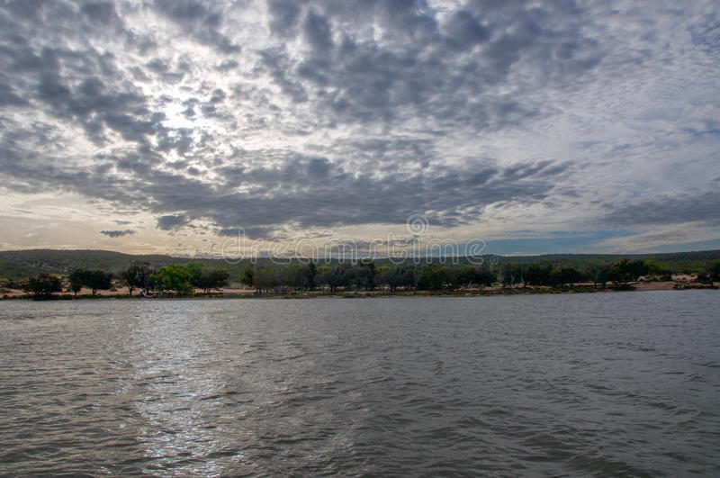 Rio de Murchison no crepúsculo imagens de stock