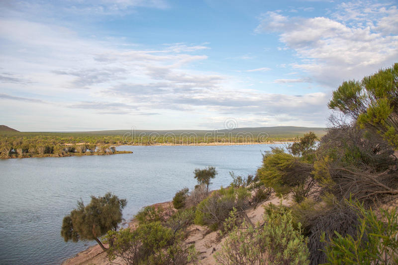 Rio de Murchison: Opiniões da duna foto de stock royalty free