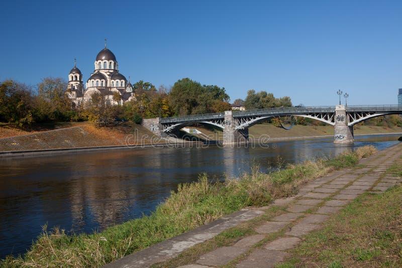 Rio de Neris em Vilnius foto de stock royalty free