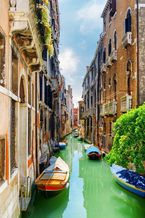 Rio de S Canal et le delle Tette, Venise de Cassan de Ponte photographie stock libre de droits