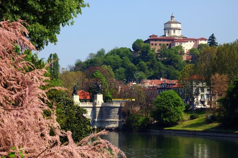 Rio de Turin foto de stock royalty free