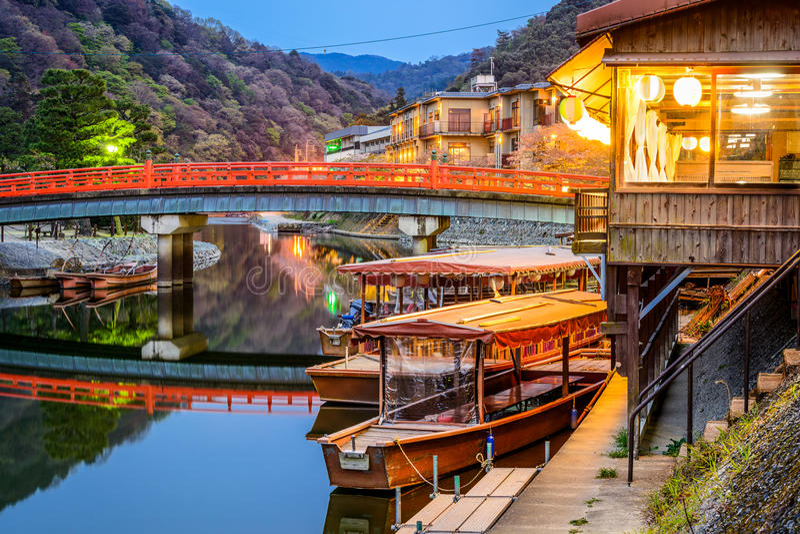 Rio de Uji em Kyoto Japão foto de stock royalty free