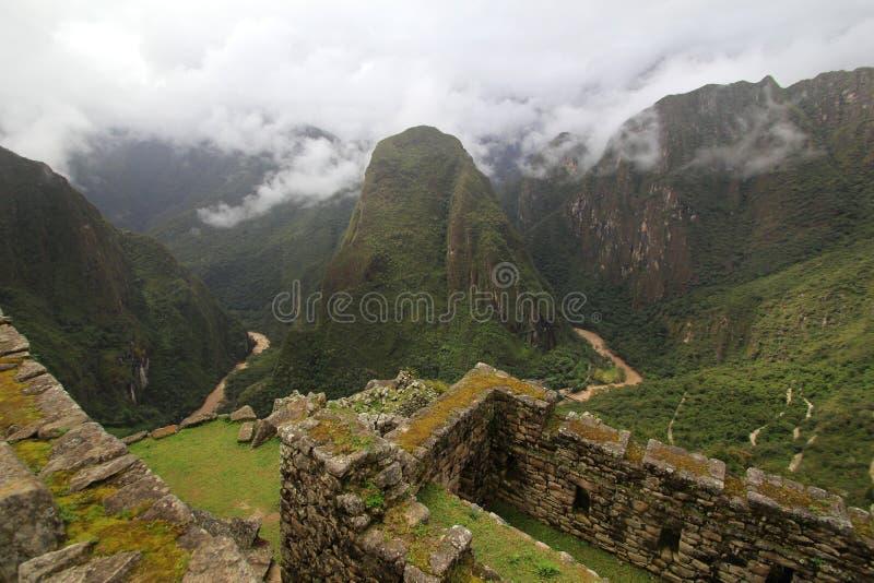 Rio de Urubamba de Machu Picchu fotos de stock